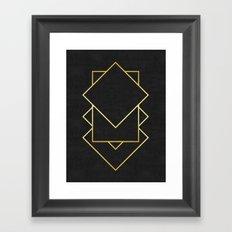 Golden forms X Framed Art Print