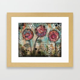 Every Flower must grow through the dirt Framed Art Print