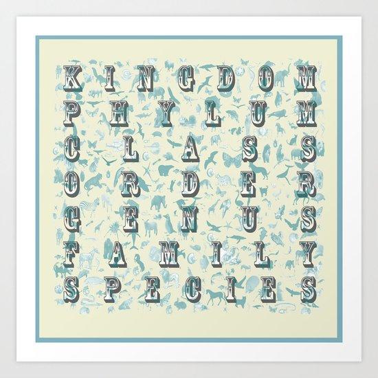 Taxonomy Art Print