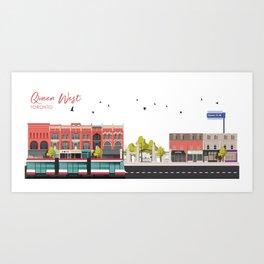 Queen West - Toronto Neighbourhood Art Print