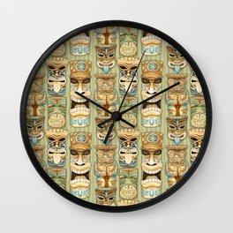 Tropical Hawaiian Deluxe Tiki Party Pattern Wall Clock
