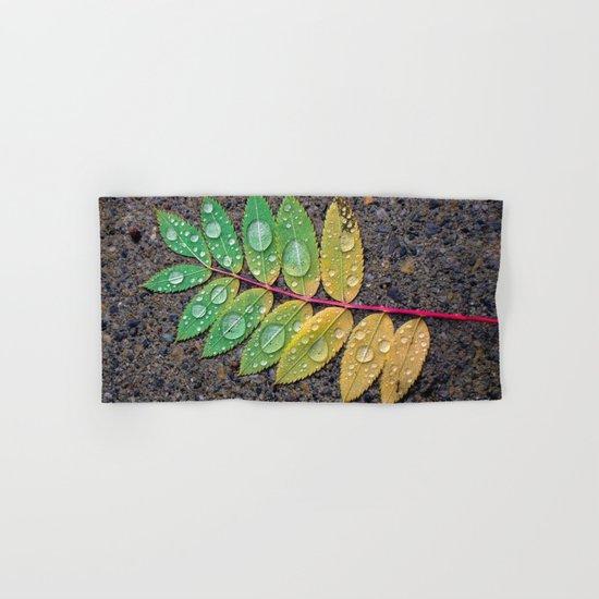 Raindrop Leaf Hand & Bath Towel