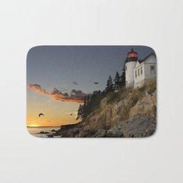 Bass Harbor Head Lighthouse Acadia National Park Bath Mat