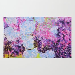 lilac painted Rug