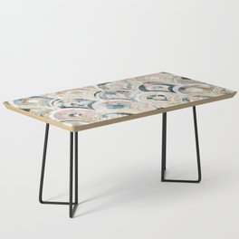 Art Deco Marble Tiles in Soft Pastels Coffee Table