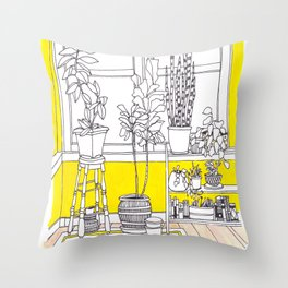 Yellow Bungalow Throw Pillow