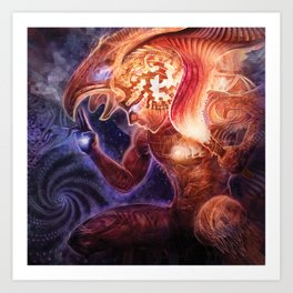 Neolithic Man (Astral Waves CD cover) Art Print
