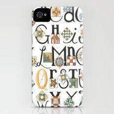 The ABC's of Quilting iPhone (4, 4s) Slim Case