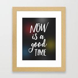 Now is a good time Air black Framed Art Print