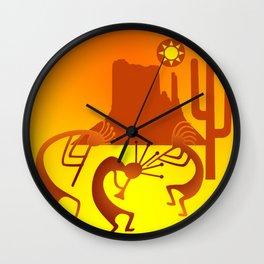 Sunny Day Kokopelli Wall Clock