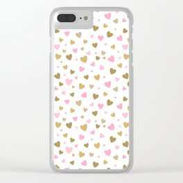 Valentine's Day Pattern | Love Heart Relationship Clear iPhone Case