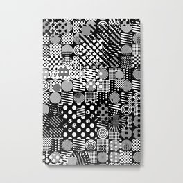 Halftone Collage Metal Print