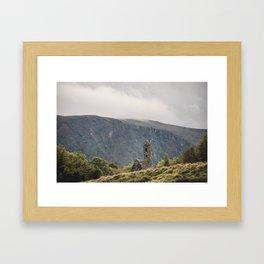 Glendalough Mountain Monastery Framed Art Print