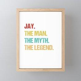 Mens Jay Name Gift design Framed Mini Art Print