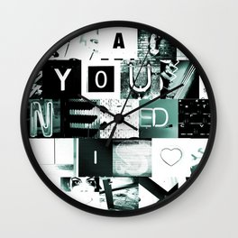 All You Need Is LOL ~ B/W Wall Clock