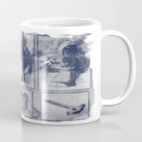 blueprint Mugs featuring Vigilante Blueprint by Matthew Dunn