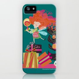 red headed angel iPhone Case