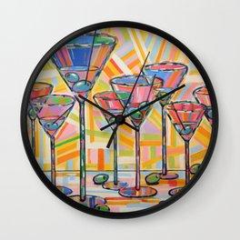 Martini Hour Wall Clock