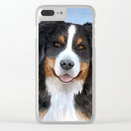 Dog 125 Bernese Mountain Clear iPhone Case