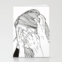 introvert Stationery Cards featuring Introvert 1 by Heidi Banford