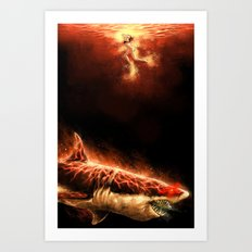 Great White Sharks #2 Art Print