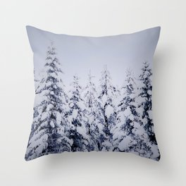 Forest in the winter Throw Pillow