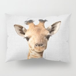 Baby Giraffe - Colorful Pillow Sham