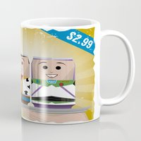 toy story Mugs featuring Toy Story Soda Cans by Oneskillwonder