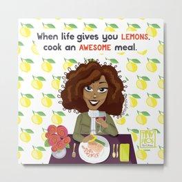 Life + Lemons Metal Print