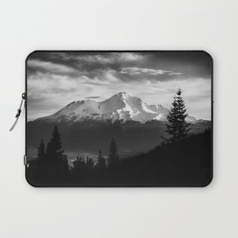 Mount Shasta Morning in Black and White Laptop Sleeve