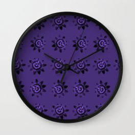 passion flower in violet Wall Clock