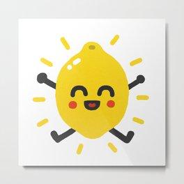 Happy lemon Metal Print