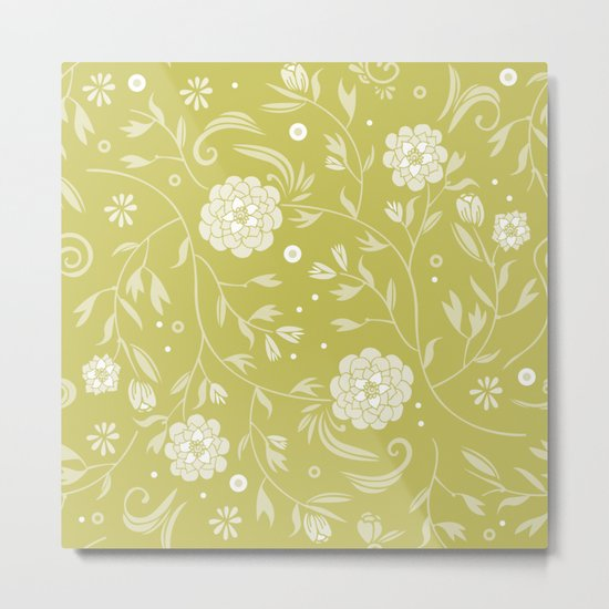 Sunny floral pattern Metal Print