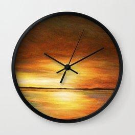 morning coffee and salt air Wall Clock
