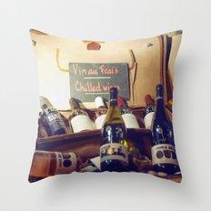 Vin au Frais: Chilled Wine Throw Pillow