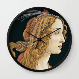Sandro Botticelli -  Portrait of a Young Woman Wall Clock