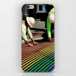 Laying It On The Line iPhone Skin