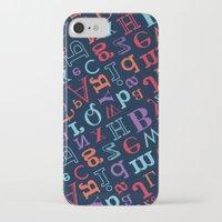 alphabet iPhone & iPod Cases featuring Alphabet  by cactus studio