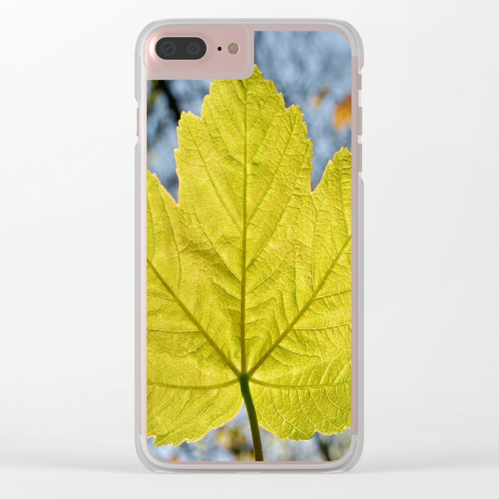 SYCAMORE LEAF Clear iPhone Case