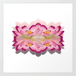 flowermetry Art Print