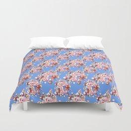 Blue Textile Duvet Cover