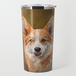 Drawing Dog breed Welsh Corgi Travel Mug
