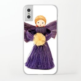 Christmas angel Clear iPhone Case