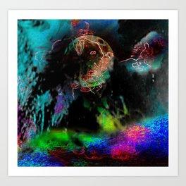 """Coelacanth Jack (He Always Carried A Sharp Shank)"" Art Print"