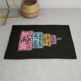 Good Cake Isn't Cheap - Funny Cake Decorator Gift Rug