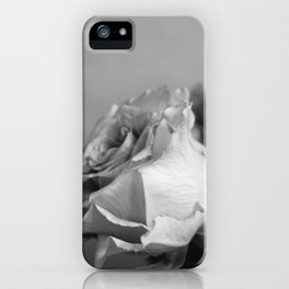 Rose in Black and White iPhone Case
