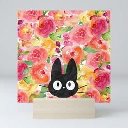 Jiji in Bloom Mini Art Print