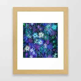 Eden Floral Blue Framed Art Print