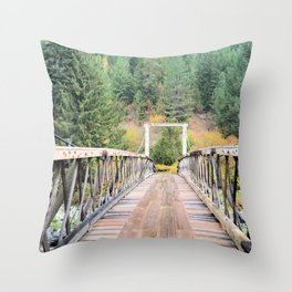 The Trail Throw Pillow