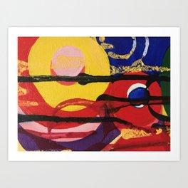 Swirling a chasm Art Print